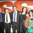 """Jean Dujardin et Louise Monot, lors de la soirée """"OSS 117"""", avec avant-première du film au Gaumont Opéra, puis fête au VIP Room Theatre, le 7 avril 2009 !"""