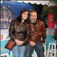 """Antoine Duléry et sa femme Pascale, lors de la soirée """"OSS 117"""", avec avant-première du film au Gaumont Opéra, puis fête au VIP Room Theatre, le 7 avril 2009 !"""