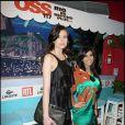 """Louise Monot et Reem Kherici, lors de la soirée """"OSS 117"""", avec avant-première du film au Gaumont Opéra, puis fête au VIP Room Theatre, le 7 avril 2009 !"""
