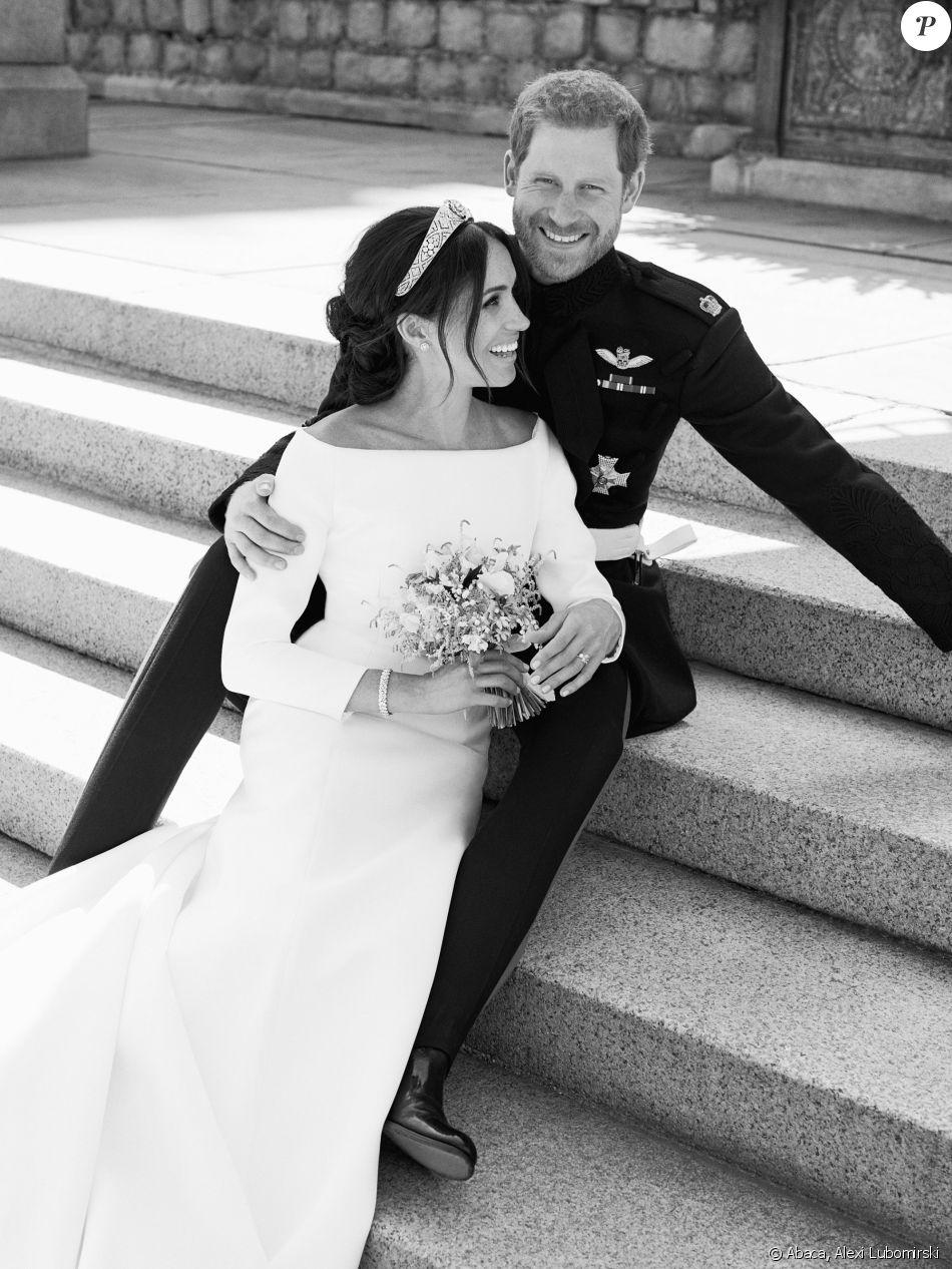 Le prince Harry et la duchesse Meghan de Sussex (Meghan Markle), photo officielle de leur mariage le 19 mai 2018 réalisée au château de Windsor par Alexi Lubomirski. ©Alexi Lubomirski/PA Wire/Abacapress.com