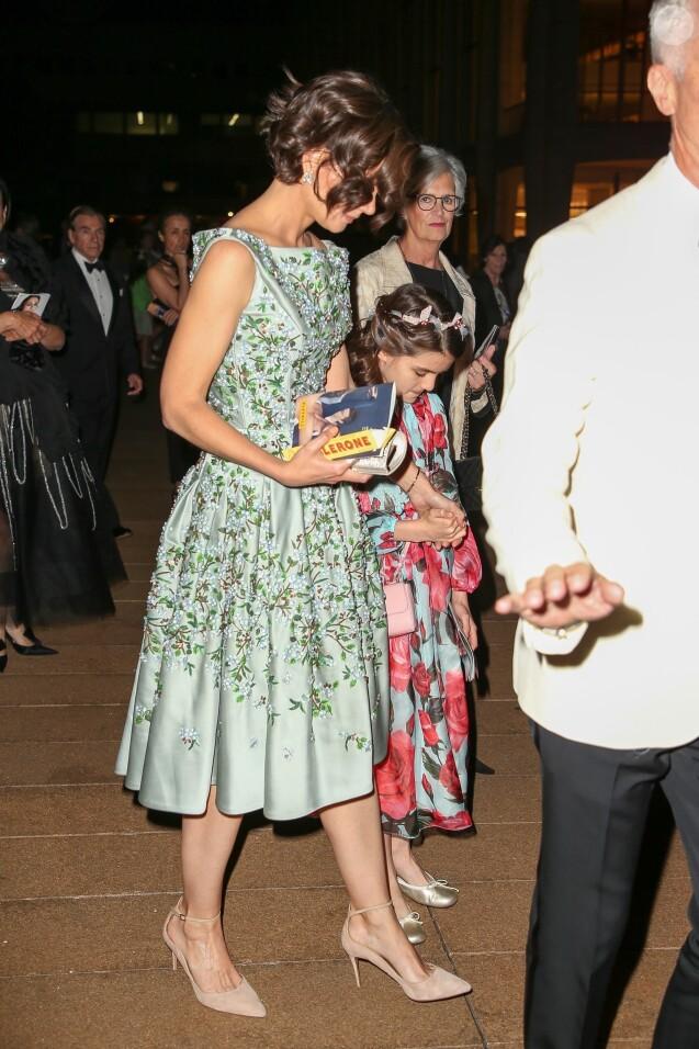 Katie Holmes et sa fille Suri Cruise - Arrivée et sortie des célébrités du American Ballet Theater Spring Gala au Lincoln Center à New York, le 21 mai 2018.