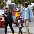 Exclusif - Amber Rose retrouve son ex mari Wiz Khalifa pour une journée en famille avec leur fils Sebastian et assister au concert de Taylor Swift à Pasadena, le 19 mai 2018