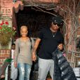Christina Milian rayonnante avec son amoureux The Dream le 6 avril 2009 à Los Angeles