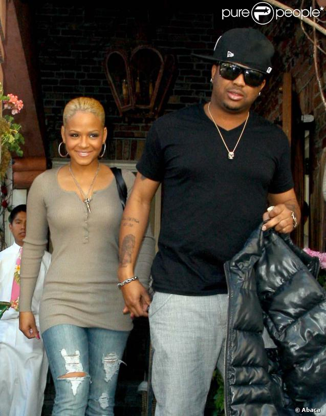 Christina Milian et son boyfriend le rappeur The Dream à la sortie du restaurant  The Ivy  à Los Angeles