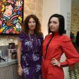 Semi-exclusif - Aurélie Saada et Sylvie Hoarau (le groupe Brigitte) - Soirée de lancement de l'appareil photo Instax SQ6 de Fujifilm à l'Instax Square House à Paris le 24 mai 2018.