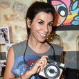 Semi-exclusif - Reem Kherici - Soirée de lancement de l'appareil photo Instax SQ6 de Fujifilm à l'Instax Square House à Paris le 24 mai 2018.