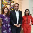 Semi-exclusif - Aurélie Saada et Sylvie Hoarau (le groupe Brigitte), Bruce Toussaint - Soirée de lancement de l'appareil photo Instax SQ6 de Fujifilm à l'Instax Square House à Paris le 24 mai 2018.