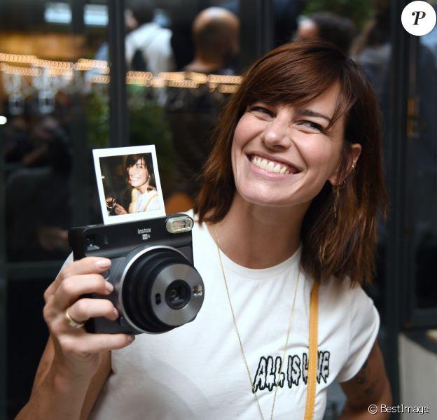 Semi-exclusif - Fauve Hautot - Soirée de lancement de l'appareil photo Instax SQ6 de Fujifilm à l'Instax Square House à Paris le 24 mai 2018.