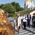 Brigitte Macron en visite officielle à Saint-Pétersbourg ce 25 mai 2018.