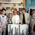 La première dame Brigitte Macron (Trogneux) visite avec Pierre-Olivier Costa, directeur de cabinet le cirque Upsala à Saint-Pétersbourg, Russie, le 25 mai 2018. © Dominique Jacovides/Bestimage
