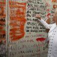 La première dame Brigitte Macron visite le palais des congrès et centre d'expositions Marina Gisich Gallery à Saint-Pétersbourg, Russie, le 25 mai 2018. © Dominique Jacovides/Bestimage