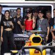 Bella Hadid, invitée par l'écurie Aston Martin-Red Bull, assiste au Grand Prix de Formule 1 de Monaco. Le 27 mai 2018.