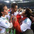 Cristiano Ronaldo en famille à Kiev lors de la finale de la Champions League. Le 26 mai 2018.