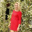 Elodie Gossuin-Lacherie au village lors des Internationaux de tennis de Roland Garros le 28 mai 2018.