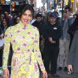 "Priyanka Chopra arrive à l'émission ""Good morning America"" à New York le 26 avril 2018."