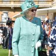 La reine Elizabeth II lors de la première garden aprty de l'année 2018 au palais de Buckingham à Londres le 15 mai 2018.