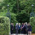 Le Président de la République Emmanuel Macron et la première dame Brigitte Macron visitent le château de Ferney-Voltaire, à l'occasion de son inauguration, après deux ans de rénovation. Le 31 mai 2018. © Stéphane Lemouton / Bestimage