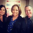 DuShon Monique Brown avec Mariska Hargitay et Jason Beghe en mars 2015, photo Instagram. L'actrice de la série Chicago Fire est morte le 23 mars 2018 à 49 ans.