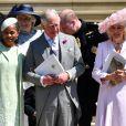 Doria Ragland, Le prince Charles, prince de Galles, et Camilla Parker Bowles, duchesse de Cornouailles - Les invités à la sortie de la chapelle St. George au château de Windsor, Royaume Uni, le 19 mai 2018.