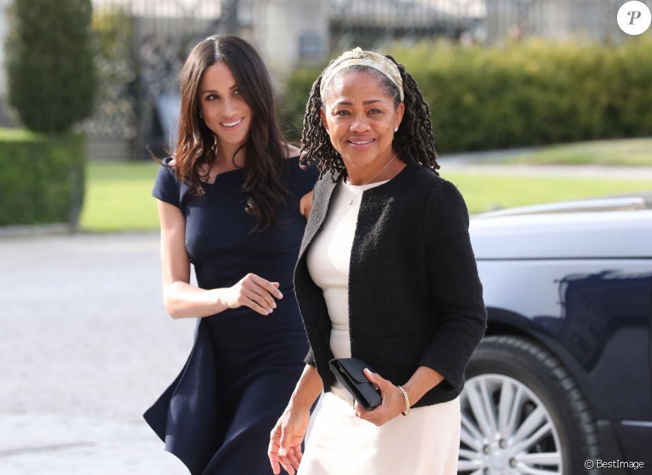 Meghan Markle et sa mère Doria Ragland arrivent à l\u0027hôtel Cliveden House  près de