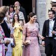 La princesse Sofia de Suède, La princesse Victoria de Suède, Le prince Daniel de Suède, - La famille royale de Suède au Mariage de Louise Gottlieb à l'église Hölö à Stockholm en Suède. Le 2 juin 2018  Louise Gottlieb's wedding in Hölö church, Sweden, 2018-06-02 - Royal Family of Sweden02/06/2018 - Stockholm