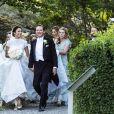 Les mariés Louise Gottlieb, Gustav Thott - La famille royale de Suède au Mariage de Louise Gottlieb à l'église Hölö à Stockholm en Suède. Le 2 juin 2018  Louise Gottlieb's wedding in Hölö church, Sweden, 2018-06-02 - Royal Family of Sweden02/06/2018 - Stockholm