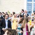 Lovisa de Geer au mariage de Louise Gottlieb et Gustav Thott à Hölö au sud de Stockholm le 2 juin 2018.