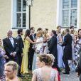 Le prince Carl Philip et la princesse Sofia de Suède, la princesse Victoria et le prince Daniel de Suède, Martina Haag, Christopher O'Neill au mariage de Louise Gottlieb et Gustav Thott à Hölö au sud de Stockholm le 2 juin 2018.