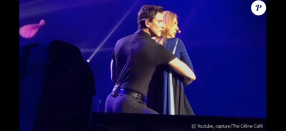 """Céline Dion et Pepe Munoz partagent un duo sur """"Falling into you"""" à Las Vegas, le 8 juin 2018"""