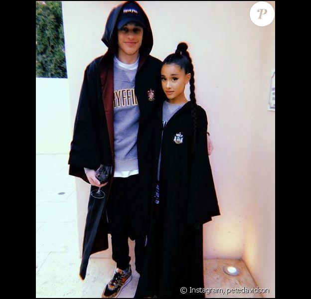 Pete Davidson et sa chérie Ariana Grande sur Instagram, le 30 mai 2018.