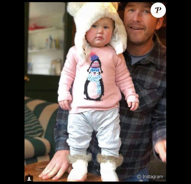 Bode Miller avec sa fille Emeline Grier Miller sur Instagram le 26 novembre 2017.
