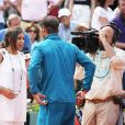 Marion Bartoli et Rafael Nadal lors des Internationaux de France de Tennis de Roland Garros à Paris le 2 juin 2018. © Dominique Jacovides-Cyril Moreau / Bestimage