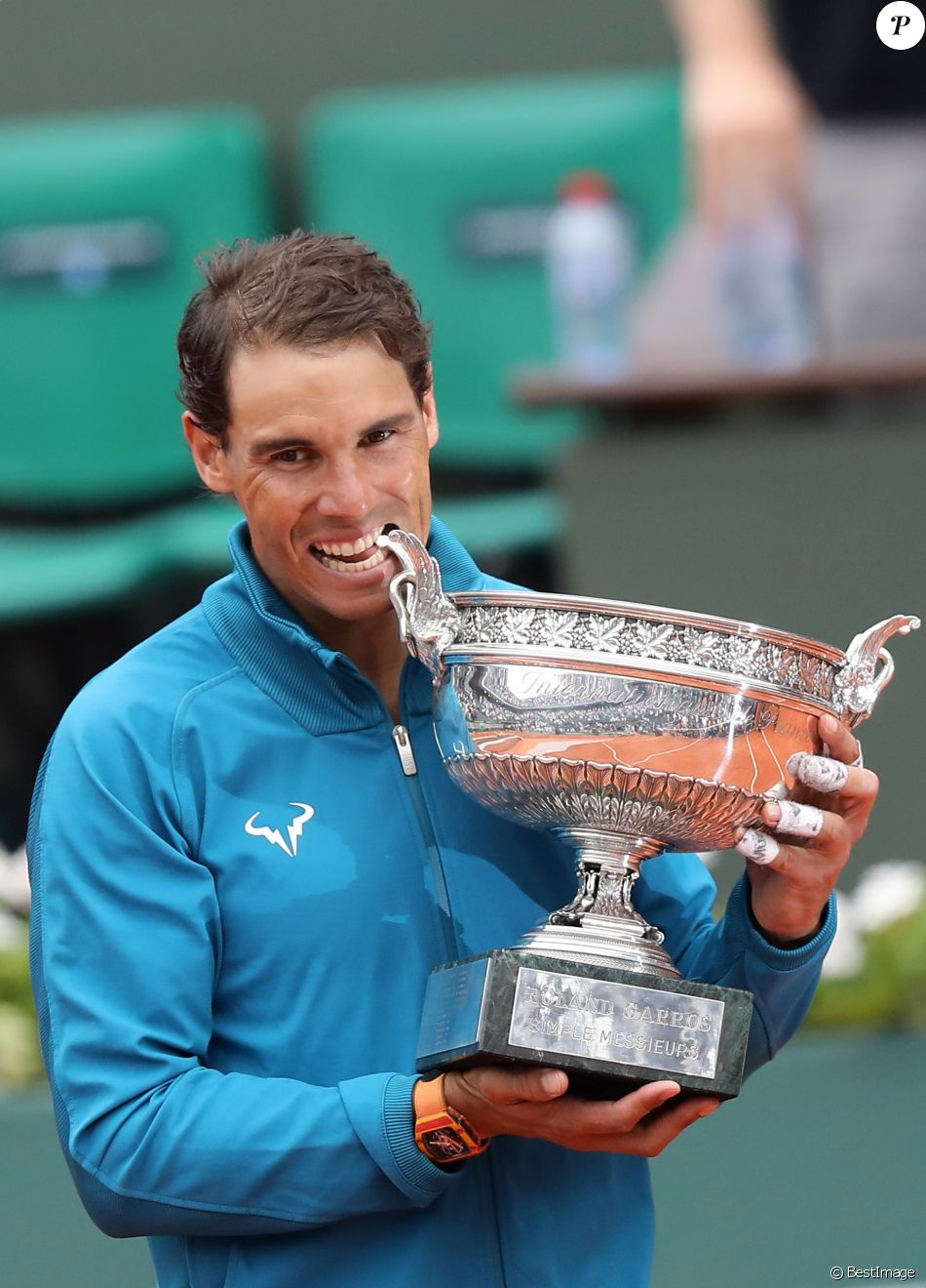 Rafael Nadal - Rafael Nadal gagne son onzième Roland-Garros face à D. Thiem à Paris, le 10 juin 2018. © Jacovides/Moreau/Bestimage