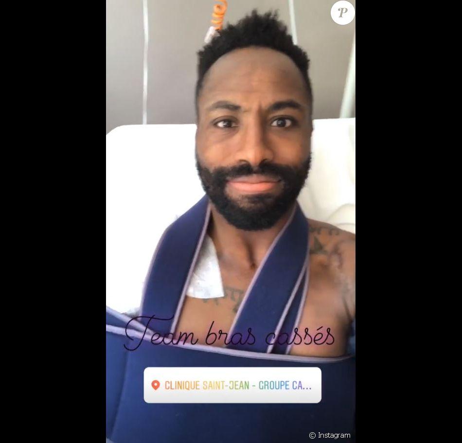 Fulgence Ouedraogo, l'amoureux d'Ariane Brodier, a été opéré après une blessure à l'épaule le 13 juin 2018.