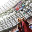 Robbie Williams - Cérémonie et match d'ouverture de la coupe du monde de football 2018 au Complexe olympique Loujniki à Moscou le 14 juin 2018.