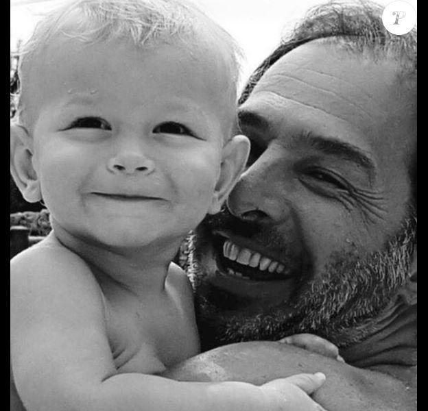 Le mari d'Ingrid Chauvin, Thierry Peythieu et leur fils Tom - Instagram @Ingridchauvinofficiel, 17 juin 2018