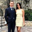 Pauline Ducruet et son père, Daniel Ducruet, au mariage de ce dernier avec Kelly Marie Lancien à Monaco, le 9 juin 2018.