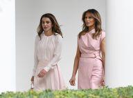 Melania Trump : Chic en rose pâle après la polémique face à Rania de Jordanie