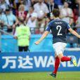 Benjamin Pavard exulte lors de France-Argentine en 8e de finale de la Coupe du monde à Kazan en Russie le 30 juin 2018 © Cyril Moreau/Bestimage
