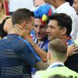 Lucas Hernandez et un ami à l'issue de France-Argentine en 8e de finale de la Coupe du monde à Kazan en Russie le 30 juin 2018 © Cyril Moreau/Bestimage
