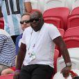 Wilfried Mbappé, père de Kylian Mbappé, lors de France-Argentine en 8e de finale de la Coupe du monde à Kazan en Russie le 30 juin 2018 © Cyril Moreau/Bestimage