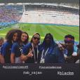 Rachel Legrain-Trapani à Kazan en Russie pour le huitième de finale de Coupe du monde entre l'équipe de France, au sein de laquelle joue son compagnon Benjamin Pavard, et l'Argentine, dans sa story Instagram.
