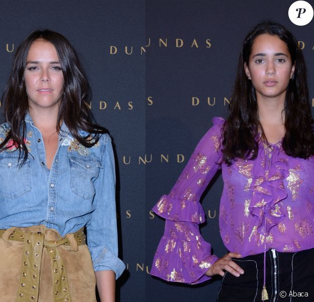 """Pauline Ducruet et Iman Perez - Défilé Dundas, collection """"D5"""" au Musée Bourdelle à Paris. Le 2 juillet 2018."""