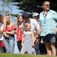 Mia Tindall avec sa mère Zara Tindall (Zara Phillips) sur le parcours de Celtic Manor Resort à Newport au Pays de Galles le 30 juin 2018 lors de la Celebrity Cup, un tournoi de golf caritatif.