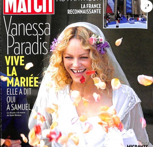 """Couverture du magazine """"Paris Match"""" en kiosques le 5 juillet 2018."""