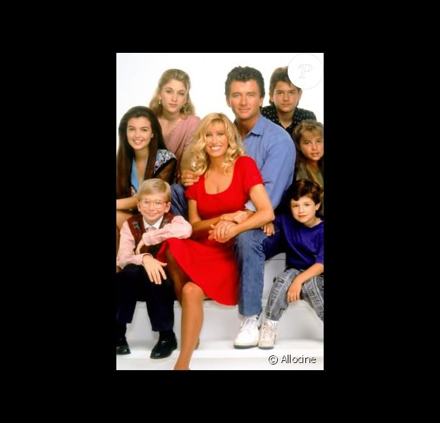 """Suzanne Somers (centre) dans """"Notre belle famille"""", diffusée entre 1991 et 1998."""