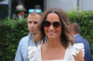 Pippa Middleton, enceinte, dévoile un petit baby bump à Wimbledon
