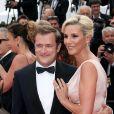 """Renaud Capuçon et sa femme Laurence Ferrari - Montée des marches du film """"L'Amant Double"""" lors du 70e Festival International du Film de Cannes. Le 26 mai 2017. © Borde-Jacovides-Moreau/Bestimage"""