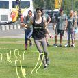 Exclusif - Laetitia fourcadeparticipe au premier Bootcamp 4Trainer des Ambassadeurs sur l'esplanade des Invalides à Paris, le 30 juin 2018 © Giancarlo Gorassini/Bestimage