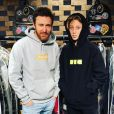 Elvis Guetta et son père David Guetta sur Instagram, en juin 2018.
